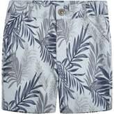 River Island Mini boys Blue floral print shorts