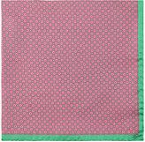 Barneys New York Men's Circle-Print Silk Pocket Square