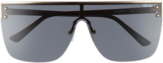 Quay Blocked 150mm Shield Sunglasses