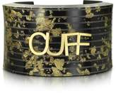 MM6 Maison Martin Margiela Black & Gold Resin Cuff