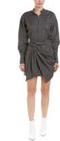 Isabel Marant Twisted Wool Shirtdress