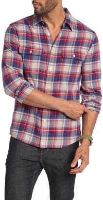 Frame Plaid Print Slim Fit Shirt