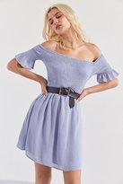 Kimchi & Blue Kimchi Blue Off-The-Shoulder Smocked Swing Dress