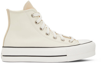 Converse Grey and White Chuck Taylor All Star Lift Sneakers