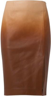 Dorothee Schumacher Degrade Softness leather pencil skirt