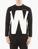 White Mountaineering Black Cotton Logo Sweatshirt