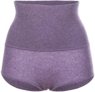 KHAITE Belinda high-rise wool shorts