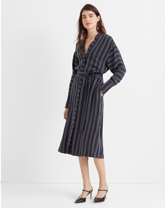 Club Monaco Striped Dolman Shirtdress