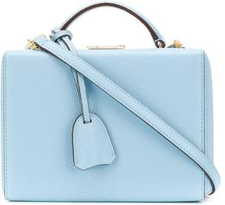 Mark Cross push-lock lunch box satchel