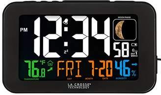 La Crosse Technology 617-1485B Atomic Color Alarm Clock with USB Charging Port
