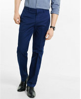 Express slim photographer blue stretch cotton dress pant