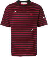 McQ striped applique T-shirt