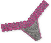 Hanky Panky Low-Rise Heather Jersey Thong, Pink