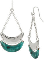 Robert Lee Morris Soho Thats A Wrap Patina Crescent Chandelier Earring