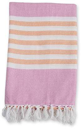 Lulujo Turkish Towel (Passion Pink and Apricot)