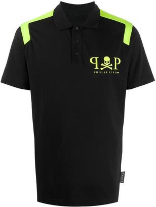 Philipp Plein SS two-tone polo shirt
