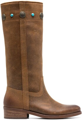 Pinko Knee-High Leather Boots
