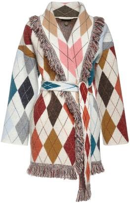 Alanui Intarsia Knit Wool Blend Jacket