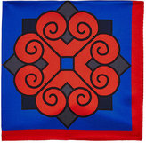 Barneys New York Men's Oversized-Medallion-Print Silk Pocket Square