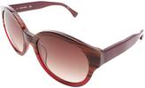 Calvin Klein Maroon Stripe Round Sunglasses - Women