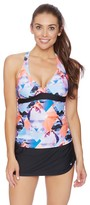 Next Palm Pop Superwoman Racerback Wrap Tankini Top