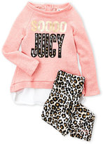 Juicy Couture Girls 7-16) Two-Piece So Juicy Pullover & Leopard Leggings Set