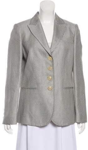 Armani Collezioni Striped Button-Up Blazer