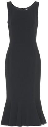 Dolce & Gabbana Ruffle-hem crApe dress