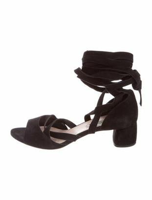 Miu Miu Suede Gladiator Sandals Black
