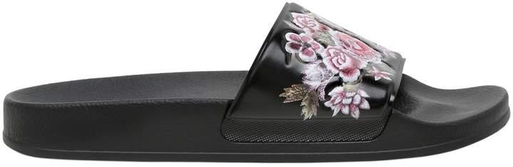 Alberta Ferretti Roses Printed Rubber Slide Sandals