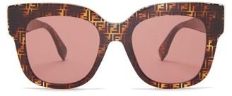 Fendi Ff Cat-eye Acetate Sunglasses - Brown