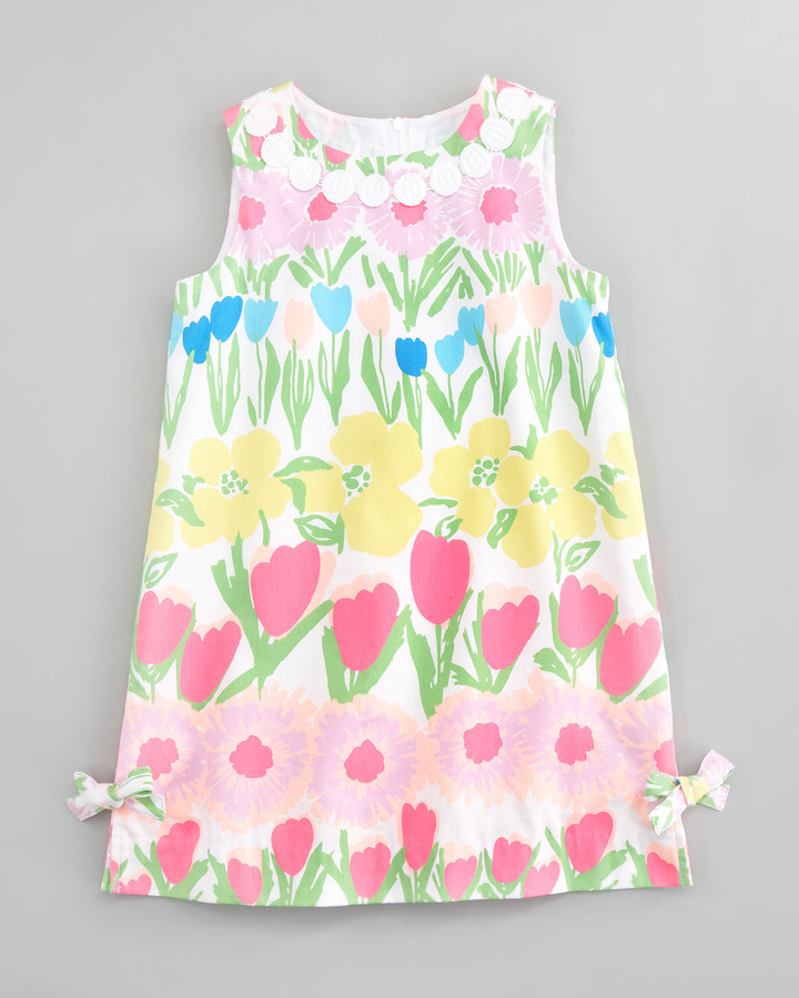 Lilly Pulitzer Floral Line Dance Little Lilly Shift Dress