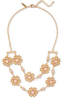 New York & Co. 2-Row Floral Statement Necklace