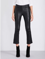 Paige Carine cropped leather jeans