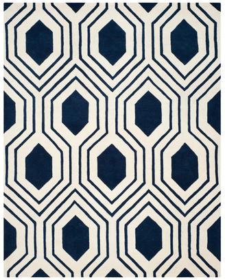 Safavieh Chatham Collection CHT760 Rug, Dark Blue/Ivory, 8'x10'