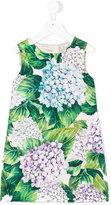 Dolce & Gabbana hydrangea print shift dress - kids - Silk/Cotton/Viscose - 4 yrs