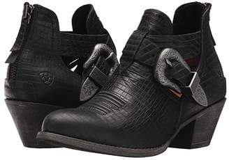 Ariat Dulce (Black Snake Print) Women's Pull-on Boots