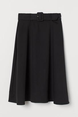 H&M Belted Skirt - Black