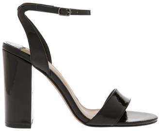 Siren Kuwait Black Patent Reptile Sandal