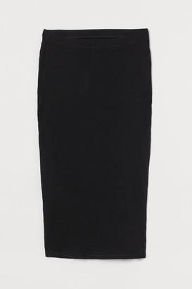 H&M MAMA Ribbed jersey skirt