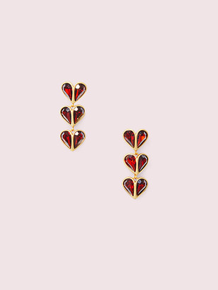 Kate Spade Rock Solid Stone Heart Linear Earrings