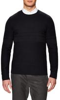 Vince Stitch Mix Crewneck Sweater