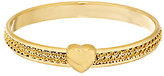 Margherita Bronzo Italia Double Row Chain Inlay Round Bangle