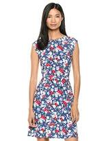 Chaps Women's Cap Sleeve Floral fit & Flare Dress