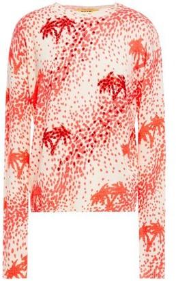 MSGM Embellished Printed Merino Wool-blend Sweater