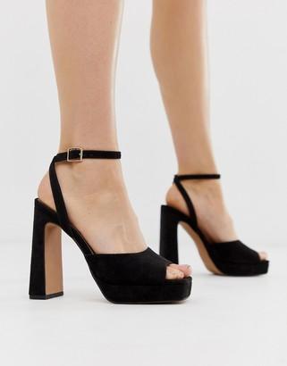 Asos DESIGN Habitat platform heeled sandals