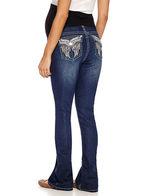 LOVE INDIGO Love Indigo Classic Fit Bootcut Jeans-Plus Maternity