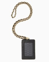Charming charlie Chic Quilted Badge Holder