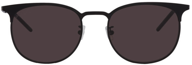 Saint Laurent Black SL 350 Slim Sunglasses