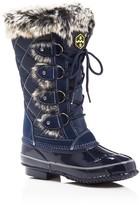 Khombu Jandice Faux-Fur Lace Up Cold Weather Boots